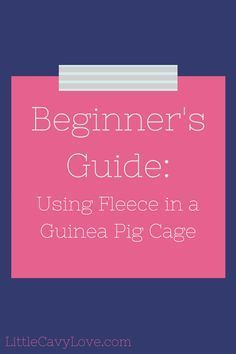 Using_Fleece_In_Guinea_Pig_Cages
