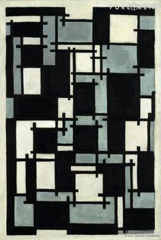 Mondrian et De Stijl : composition de Theo van Doesburg  1929/1930