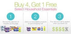 Amazon select household products buy 4 get 1 free