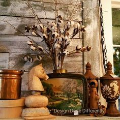 How do you decorate your mantel? #reluxvintage #restylechicago https://www.instagram.com/p/BLTrlAwgRrY/