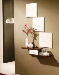 mueble recibidor tres espejos