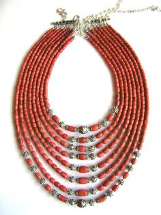 Korali - multi-strand coral necklace, Ukraina