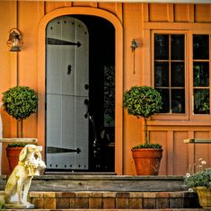 There is something so friendly and small-town about a half-open dutch door . I covet one in our little house and admire them all over town.
