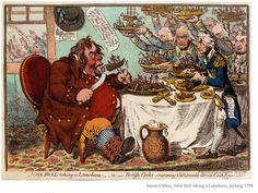 James Gillray (1757-1815) was een Engels schilder, cartoonist en etser. Samen met de satirische kunstenaars William Hogarth, Thomas Rowlandson en George Cruikshank maakte hij het achttiende-eeuwse Engeland tot het centrum van de karikatuurkunst. Berucht waren vooral zijn kritische prenten tegen het Frankrijk van Napoleon Bonaparte. James Gillray introduceerde ook het personage John Bull in de Engelse spotprenten. Tot vandaag is de benaming John Bull een spotnaam voor de Engelsen.