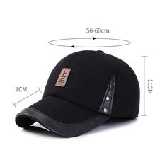 5a7a327ebd229 Mens Adjustable Simple Style Warm Protect Ear Windproof Cotton Baseball Cap  Outdoor Sports Hat