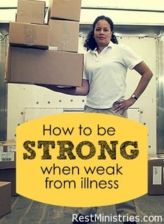 ILLNESS DOES ZAP OUR STRENGTH... but can we still be STRONG? You bet! This #devotional encourages those with illness to hold on to standing firm, even when feeling weak and we will be rewarded by God one day.