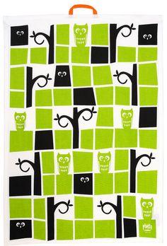 Owl kitchen towel from Pluto by Pluto Owl Kitchen, Kitchen Decor, Scandinavian Interior Design, Scandinavian Design, Owl Tree, Preschool Classroom, Beautiful Kitchens, Kitchen Towels, Products