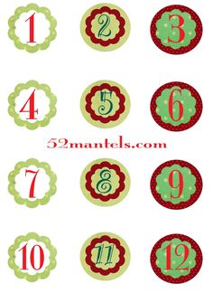 52 Mantels: Hanging Advent Calendar plus Free Printable Tags
