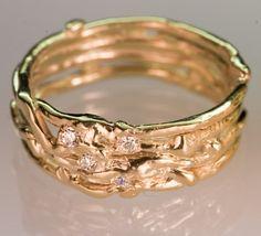 Recycled Gold Wedding Band  Womens by FernandoJewelry on Etsy, $925.00  so beautiful