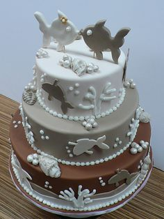 Kissing Fish Sea Themed wedding by CAKE Amsterdam - Cakes by ZOBOT, via Flickr