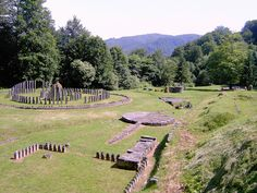 Sarmisegetuza Regia, the area of the sanctuaries. It was the most important Dacian military, religious and political centre. Erected on top of a 1,200 meters high mountain, the fortress was the core of the strategic defensive system in the Orăştie Mountains, comprising six citadels.