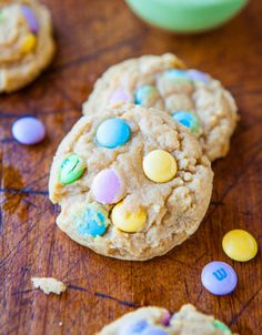 New season, new M&M colors.  Get the recipe from Averie Cooks.
