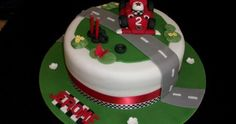 Fun Decoration Race Car Cake For Lovely Kids