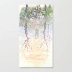 Reflections Stretched Canvas by Melani Huggins - $85.00