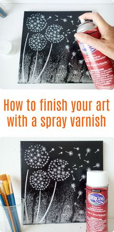 Easy video tutorial. How to correctly use a spray varnish to finish your art, canvases and paintings.