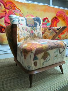 Felted chair, amazing work by evelyn.bendjeskov, via Flickr
