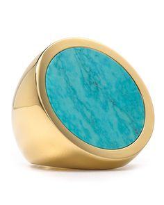 Michael Kors Turquoise Slice Disc Ring - Jewelry & Accessories - Bloomingdale's