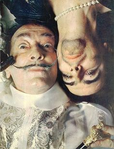 salvador dali with alice cooper dali was very surreal is his real life...
