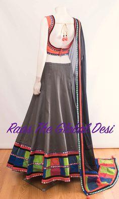 Silk Chania with designer brocade blouse and contrast dupatta Ethnic Outfits, Indian Outfits, Indian Clothes, Western Outfits, Choli Designs, Blouse Designs, Lehenga Choli, Anarkali, Blue Lehenga