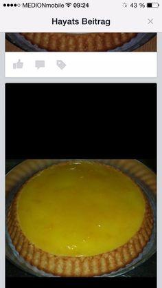 Portakalı muhallebili pasta
