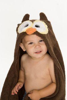 Owl Hooded Towel For Kids | Owl Bath Towel