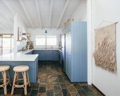 281 Likes, 8 Comments - Kyal And Kara, Unexpected Love, Cane Furniture, Kitchen Reno, Rattan, Bar Stools, Lounge, Table, Paint