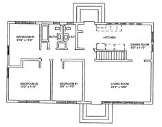 Ranch Style House Plans | Ranch Style Floor Plans and Ranch House Plans With Basement - I would add a second bathroom. (Master bedroom)