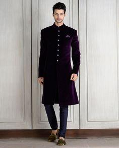 Velvet Sherwani Designs 2015 For Men Wedding in Pakistan