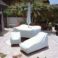 White Patio Furniture Cover