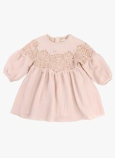 Chloe Baby/Kids Couture Dress with Guipure Embroidery