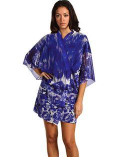 Jean Paul Gaultier - Jersey Rose Print Kimono Wrap
