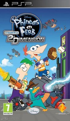 Descargar Phineas and Ferb Across the Dimension[PSP] Gratis Disney Fun, Disney Movies, Phineas Y Ferb, Cartoon Wallpaper, Video Game, Animation, Comics, Dorm Room, Character