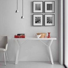 Consolle allungabile bianca dal design moderno Atik
