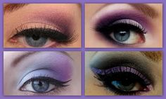 Purple smokey eye for blue eyes