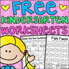 This free pack includes six math and literacy worksheets for kindergarten. The worksheets relate to CVC words, addition, subtraction, uppercase letters, syllables and spelling. I hope you enjoy! If you'd like to see the bundle, check it out here: Kindergarten Seasonal Worksheet Bundle