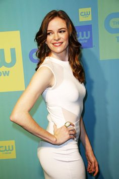 Danielle Panabaker booty in scurvy hugging white dress