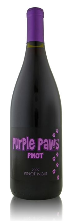 2009 Purple Paws Pinot - A portion of Purple Paws sales go to the animal shelter for the care of homeless pets.
