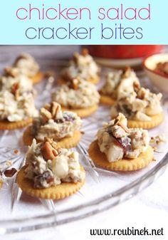 Chicken Salad Cracker Bites   Roubinek Reality www.roubinek.net