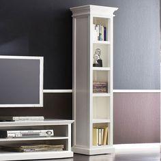 Whitehaven Mahogany Tall Narrow Bookcase Storage Drawers