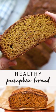Sweetened only with maple syrup, this delicious healthy pumpkin bread is low in sugar, vegan and made with fiber-rich whole wheat flour!