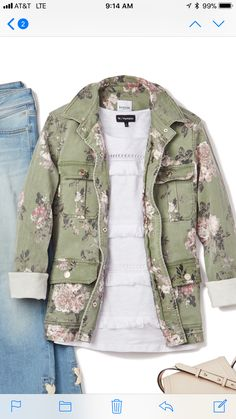 Love this jacket! I already have a plain green one but I love the floral print!