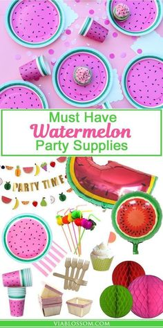 Must Have Watermelon Party Decorations for your summer parties or a Watermelon Birthday Party!