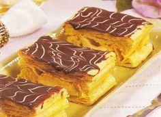 Arquivo de Receitas: Mil-Folhas Portuguese Desserts, Portuguese Recipes, Portuguese Food, My Recipes, Sweet Recipes, Tiramisu, Cupcake Cakes, Cupcakes, Deserts