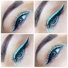 Blue Milk liner to make your eyes pop!  Via makeup.by.laura