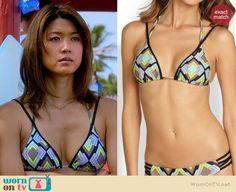 Kono's geometric printed bikini on Hawaii Five-O Grace Park, Cute Asian Girls, Beautiful Asian Girls, Beautiful Celebrities, Gorgeous Women, Cheryl Tiegs, Hawaii Five 0, Kelly Hu, Fashion Tv