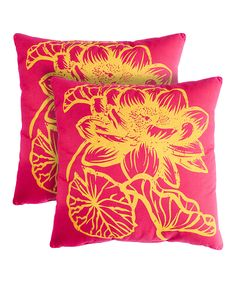 Loving this Pink Fleur Throw Pillows - Set of Two on #zulily! #zulilyfinds