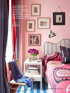 Five top interior designers created custom paint color palettes for Portola Paints. Find out which paint colors interior designers love. Pink Paint Colors, Top Interior Designers, Pink Room, Pink Walls, My New Room, Beautiful Bedrooms, Colorful Interiors, Decoration, Bedroom Decor