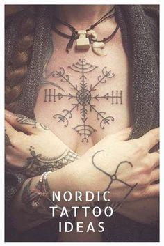 Viking Tattoos Ideas - Scandinavian tattoo ideas for men and women . - Viking Tattoos Ideas – Scandinavian tattoo ideas for men and women – Nordic tattoo ideas. Cute Tattoos, Unique Tattoos, New Tattoos, Body Art Tattoos, Sleeve Tattoos, Tattoos For Guys, Temporary Tattoos, Viking Tattoos For Men, Celtic Tattoo For Women
