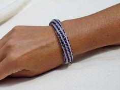 Handmade French Knit Beaded Bracelet  Light by SpindleCityKnits