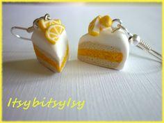 New lemon cake earrings on ItsybitsyIsy https://www.etsy.com/listing/154524869/lemon-cake-earrings?ref=shop_home_active
